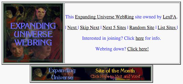 Expanding Universe WebRing
