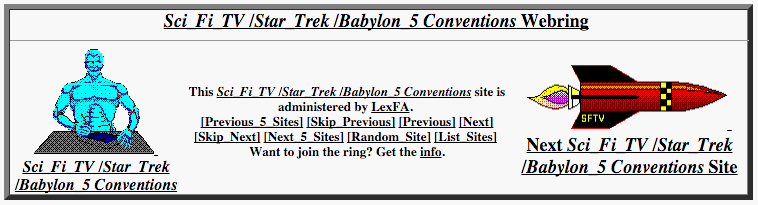 Sci Fi TV / Star Trek / Babylon 5 Conventions Webring